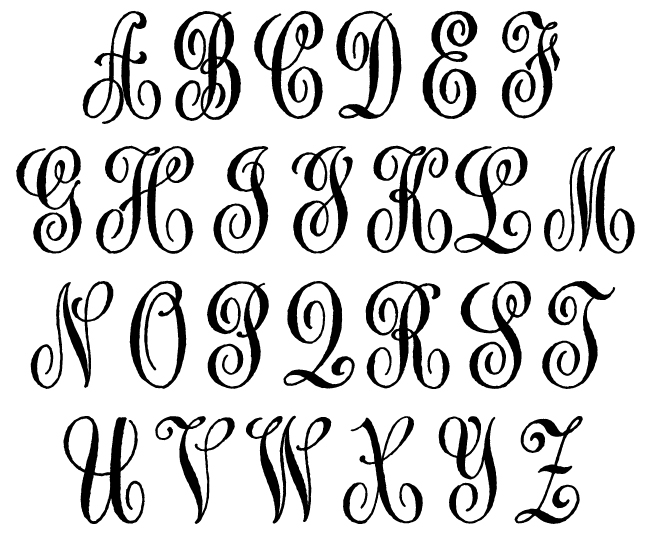 Anitque cipher monogram embosser for Initial letters