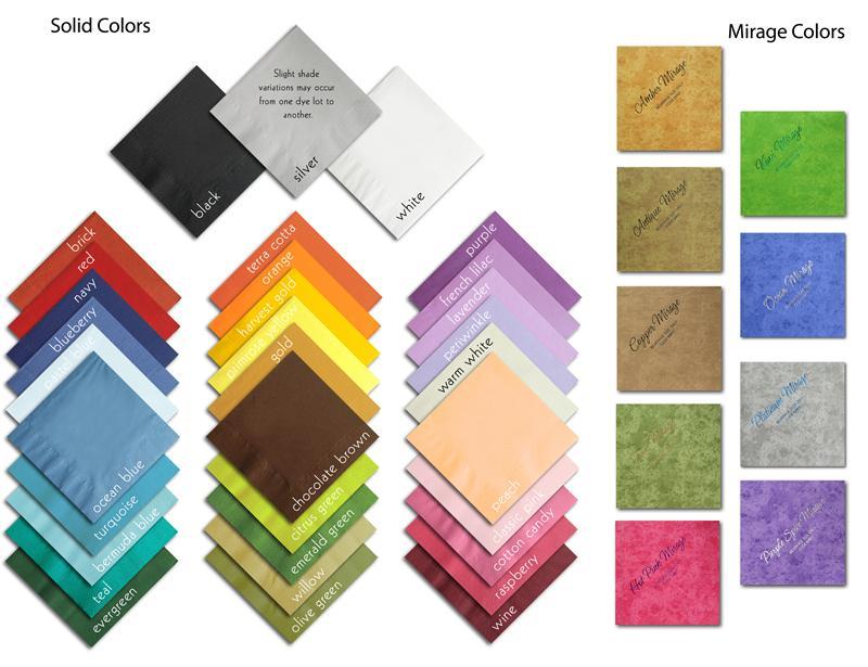 Custom Printed Napkins Logo Product Options